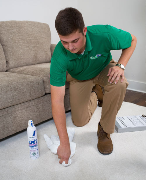 tech performing stain removal utah county ut