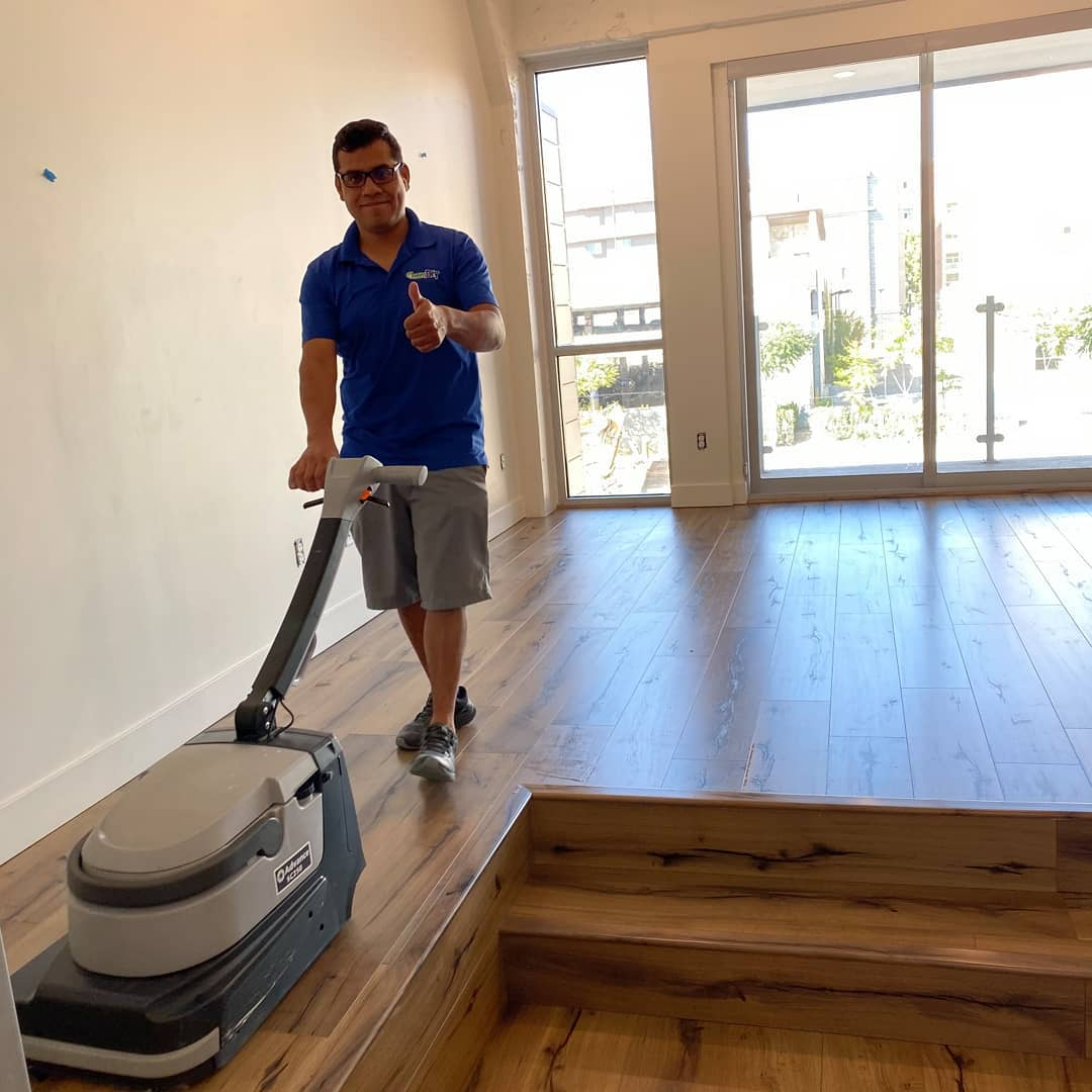 tech performing wood floor cleaning provo ut